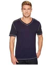 Agave Denim Darren Short Sleeve Color Block V Neck Tee T Shirt