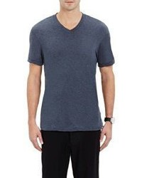 James Perse Jersey V Neck T Shirt Blue