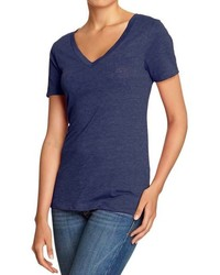 77e57224636 Women s Navy V-neck T-shirts by Old Navy