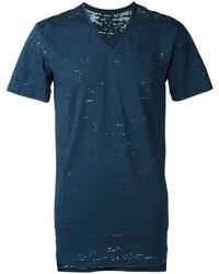 Sheer detail v neck t shirt medium 1152993