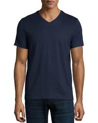 Hugo Boss Short Sleeve V Neck T Shirt Navy