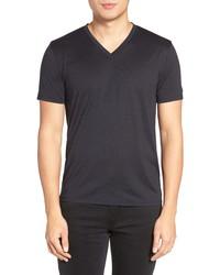 Theory Silk Cotton V Neck T Shirt