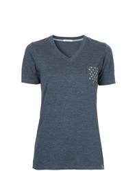 GUILD PRIME Star Studded Pocket V Neck T Shirt