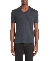 John Varvatos Collection V Neck Linen T Shirt