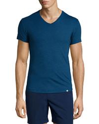 V neck short sleeve jersey t shirt denim pigt medium 610445