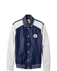 adidas Baseball Leather Varsity Jacket