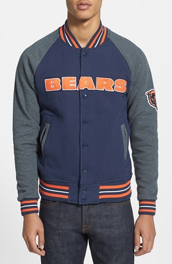 quality design 62747 53e31 $150, Mitchell & Ness Backward Pass Chicago Bears Fleece Jacket