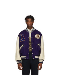 Gucci Blue And Off White Band Varsity Jacket