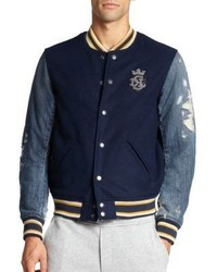 Diesel Mixed Media Varsity Jacket