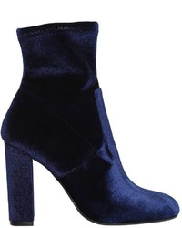 100mm editt stretch velvet ankle boots medium 4417283