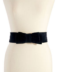 Kate Spade New York Velvet Double Bow Belt