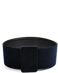 Jil Sander Velvet Belt In Inkblack