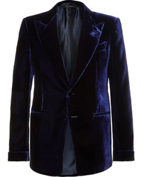 Tom Ford Blue Shelton Slim Fit Velvet Tuxedo Jacket