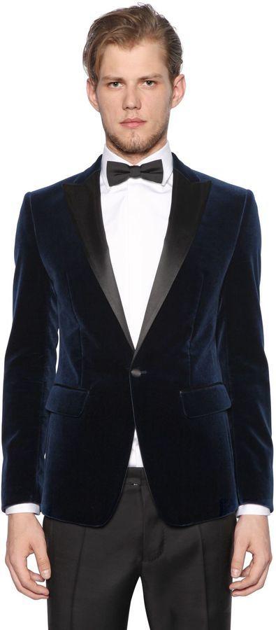 74c7aebd83a1 DSQUARED2 Cotton Velvet Tuxedo Jacket, $1,635 | LUISAVIAROMA ...