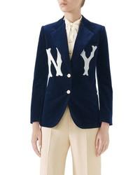 Gucci Ny Patch Velvet Jacket