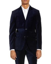 French Connection Regular Fit Plush Velve Blazer