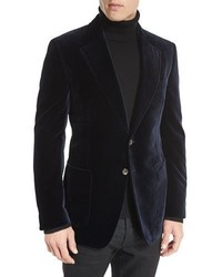 Shelton base velvet sport jacket navy medium 1148294
