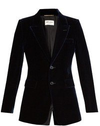Saint Laurent Single Breasted Velvet Blazer