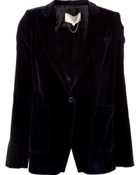 Vanessa Bruno Single Button Velvet Blazer