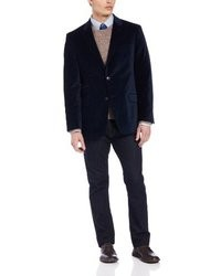 Tommy Hilfiger Dorsey Two Button Navy Velvet Blazer