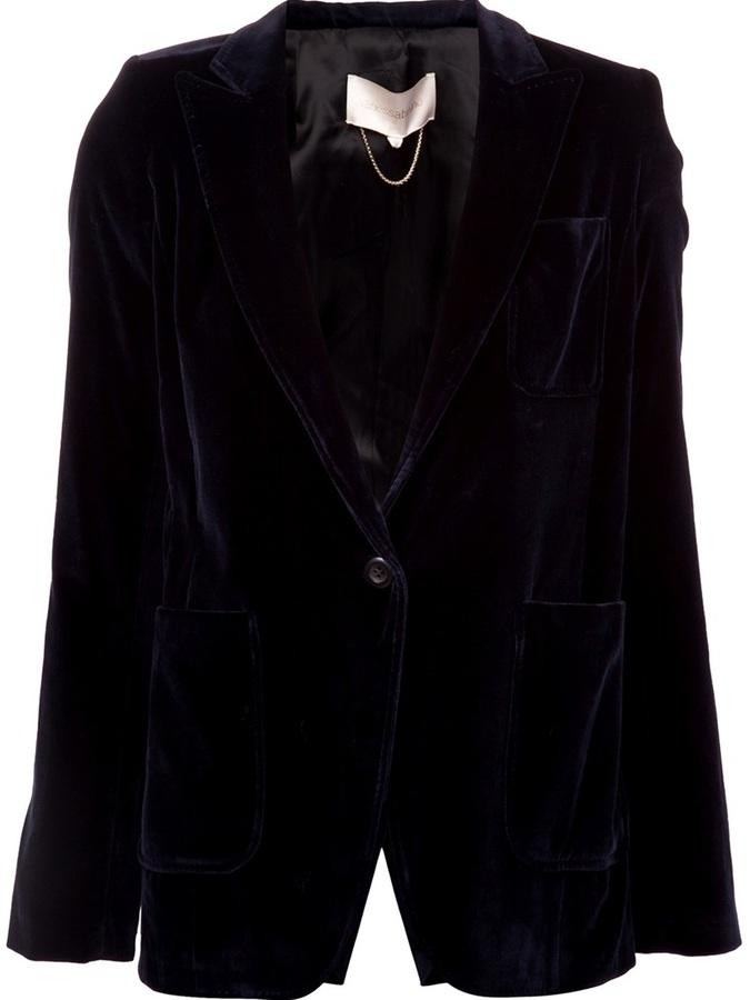 Vanessa Bruno Single Button Velvet Blazer