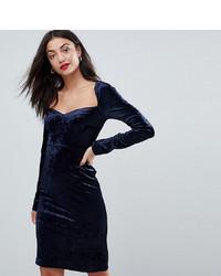 Vero Moda Tall Square Neck Velvet Bodycon Dress