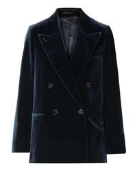Acne Studios Double Breasted Cotton Velvet Blazer