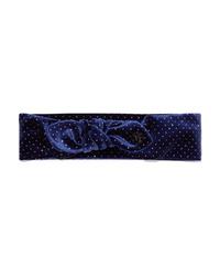 Maison Michel Gab Glittered Velvet Headband