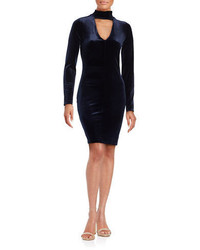 Design Lab Lord Taylor Velvet Long Sleeve Cutout Sheath Dress