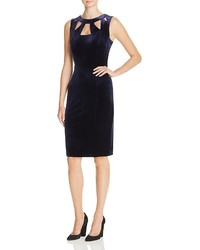 Eliza J Velvet Cutout Sheath Dress