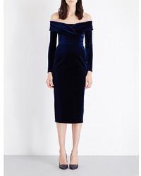 Emilio De La Morena Oili Off The Shoulder Velvet Dress