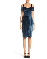 Yigal Azrouel Velvet Cold Shoulder Dress