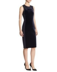 Akris Punto Velvet Jersey Sheath Dress
