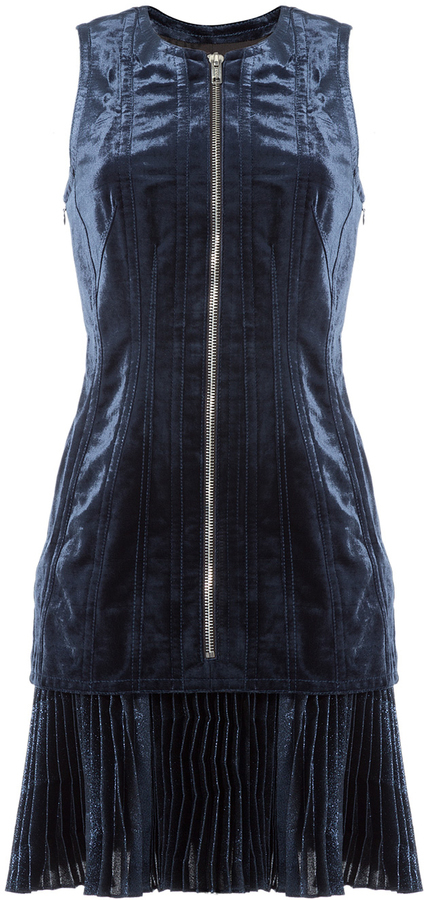 3.1 Phillip Lim Zipped Velvet Dress