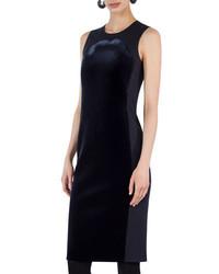 Akris Punto Sleeveless Velvet Shift Dress