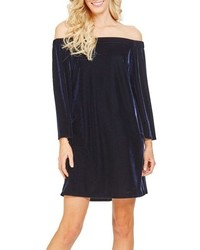 Donna Morgan Stretch Velvet Shift Dress