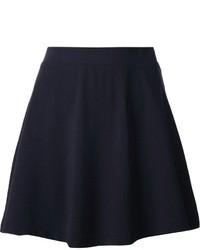Navy Velvet Skater Skirt
