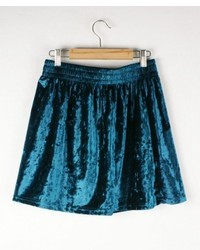 Chicnova gold velvet skirt medium 36887