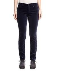Loro Piana Mathias Velvet Skinny Jeans Ocean Waves Navy