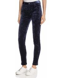 Joe's Jeans The Charlie Skinny Velvet Pants In Navy