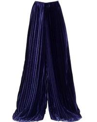 Marco De Vincenzo Wide Pleated Velvet Pants