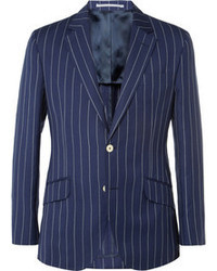 Navy Vertical Striped Blazer