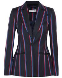 Altuzarra Acacia Striped Wool And Cotton Blend Blazer Navy