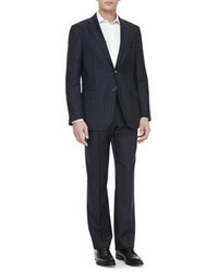 Vince Isaia Two Button Jacket Navy With Blue Stripes