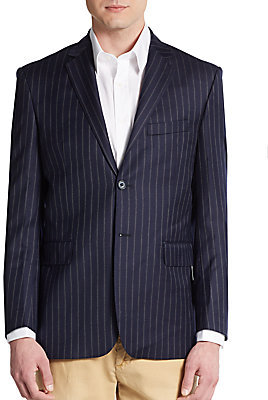 Saint Laurent Modern Fit Pinstripe Wool Sportcoat | Where to buy ...
