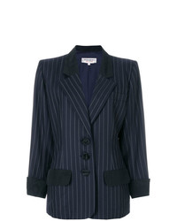 Yves Saint Laurent Vintage Pinstripe Loose Fit Blazer