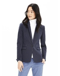 Banana Republic Pinstripe One Button Blazer