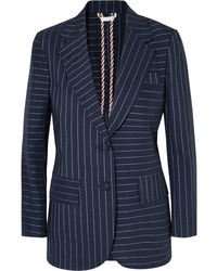 Thom Browne Pinstriped Cotton Blazer
