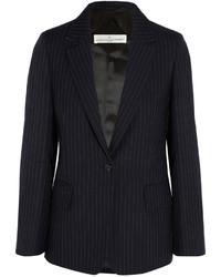Golden Goose Deluxe Brand Pinstriped Wool And Mohair Blend Blazer Midnight Blue