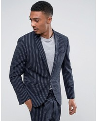 Skinny suit jacket in navy pinstripe medium 3744798